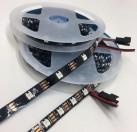 WHOLESALE SMD2812 5M 5V 30/60 LEDS BLACK PCB MAGIC LED STRIP LIGHT WITH CONTROLLER