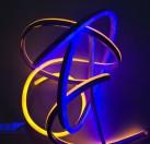低压 12V软灯带一米120灯 2835霓虹彩虹灯
